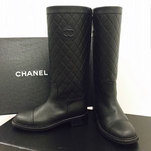 CHANEL - Brand New Authentic Quilted Leather Boots